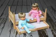 Trundle Bed, Bitty Twins Trundle Doll Bed - Bed And Trundle Drawer With Two…