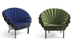 Peacock chairs. I would love to see these felt chairs in real life!