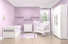 great possibility for my girls room. purple is a must
