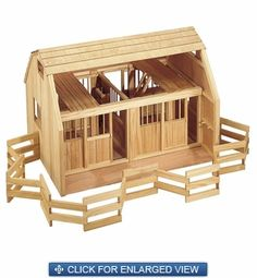 Woodworking Pattern Western Ranch Farm House Childs Toy DIY
