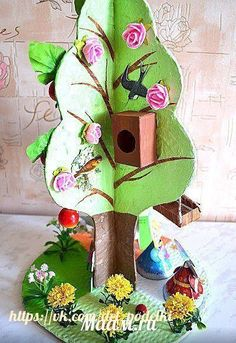 ДЕТСКИЕ ПОДЕЛКИ Homemade Crafts, Diy And Crafts, Arts And Crafts, Cute Kids Crafts, Preschool Crafts, Art Expo, Paper Crafts Origami, Paper Tree, Fun Fold Cards