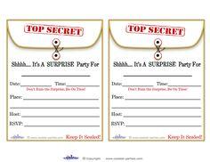 surprise party invitation templates free