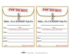 Invitation For Surprise Birthday Party
