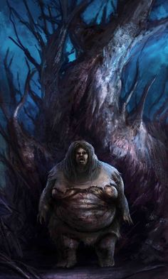 Batibat- Philippine folklore: a huge fat female tree sprit that resides in the trunks of trees. If its host tree is turned into a post, and someone sleeps next to it, it will come out of the post and sit on top of the sleeper until he suffocates. It is the explanation for bangungot.