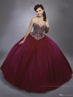 Dark Burgundy Quinceanera Dresses 2017 Mary s with Sheer Bolero and Lace Up  Back Bling Bling Crystals Royal Blue Sweet 15 Dress Sweetheart c3dea2e34a00
