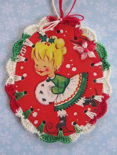 Recycled Christmas Illustration  Crochet Skating by ShoeFlower