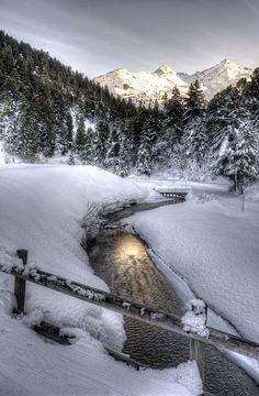 Stream Sun, Alps, France