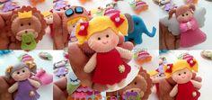 Sarışın Kız Bebek Şekeri Doğum Günü Magnet