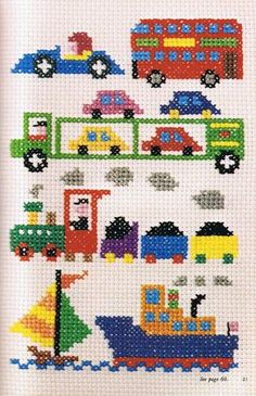 Cross-stitch is a popular form of counted-thread embroidery in which X-shaped stitches in a tiled, raster-like pattern are used to form a picture.