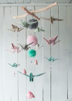 "Mobil origami ""kwiaty"""
