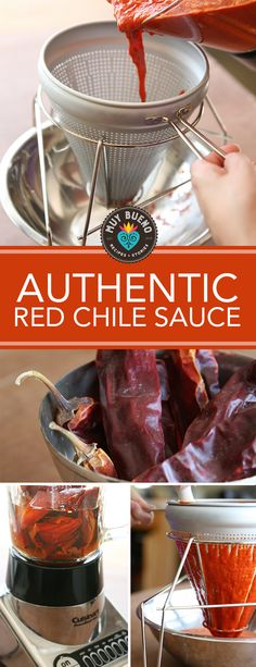 How to Make Authentic Red Chile Sauce. With Lent season here I wanted to share a recipe that is very near and dear to my heart…homemade red chile sa. Red Tamale Sauce Recipe, Red Chile Sauce Recipe, Recipes With Enchilada Sauce, Homemade Enchilada Sauce, Red Enchilada Sauce, Homemade Chili, Sauce Recipes, Chile Colorado, Chili Colorado Recipe
