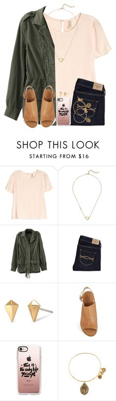 """When You Do Something Weird And Fill Like Erybody Judgin"" by twaayy ❤ liked on Polyvore featuring H&M, Cole Haan, Abercrombie & Fitch, Stella & Dot, Kate Spade, Casetify and Alex and Ani"