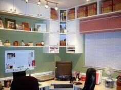 Office & Workspace : Craft Room Organizing With Craft Room Cabinet Open Craft Room Storage In Craft Storage Ideas Get Inspired Design for Craft Room Organizing Fabric Storage. Sewing Room Storage, Craft Room Storage, Sewing Rooms, Craft Organization, Craft Rooms, Storage Ideas, Clothes Storage, Fabric Storage, Home Office