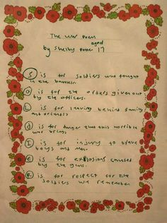 The Bosworth Poets are a group of learners from Dorothy Goodman School who are currently completing a work experience placement through the Get Set project. The group reflected about what life would have been like during the war years, inspiring them to each write a poem. This is just one of their poems, a acrostic poem that spells solider. This went on display at the Century of Stories exhibition in Snibston Discovery Museum's Community Gallery in March 2015. Discovery Museum, My War, Local Library, What Is Life About, Primary School, World War Two, School Projects, March, Community