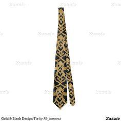 Gold & Black Design Tie