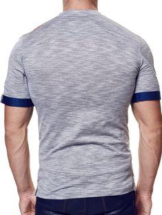 Maceoo V Neck Shirt - Charchoal SSS - Men Fashion - 2