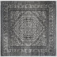 Safavieh Adirondack Silver/ Black Rug (6' Square) | Overstock.com Shopping - Great Deals on Safavieh Round/Oval/Square