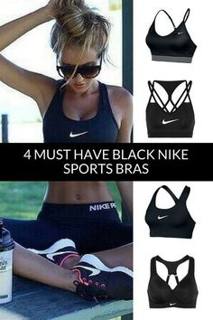 239bd493ba47c Basic Black Workout Bra. Great support when working out. #afflink #nike #