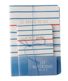 To-do lists suddenly seem more manageable when written in these sailor-stripe pads. They're chic enough to leave out on your desk and lightweight enough to carry around in a beach bag.