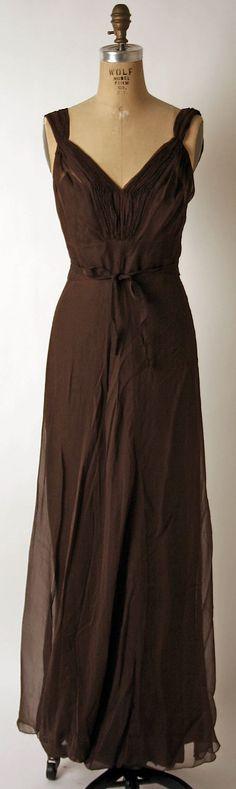 Rosenstein Dress - 1930's - by Nettie Rosenstein  (American, 1890-1980) - @~ Mlle