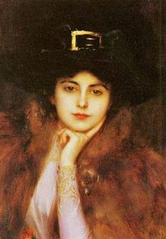 Albert Lynch (Peruvian artist, 1851-1912) Elegant Lady