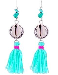 https://www.goedkopesieraden.net/Oorbellen-met-turquoise-steentjes,-tassels-en-een-schelp