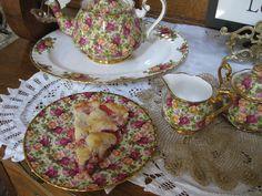 Bernideen's Tea Time Blog: STRAWBERRY RHUBARB PIE - A SUMMERTIME FAVORITE