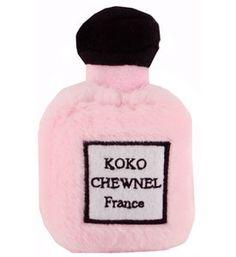 Pet Toys Koko Chewnel Perfume Squeaky Plush Designer Pink