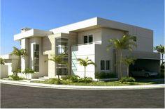 Fachadas de casas com cores claras - off white - super tendência! - Decor Salteado - Blog de Decoração e Arquitetura
