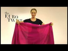 How to Wear It: (video) 5 different ways to tie a wrap scarf.
