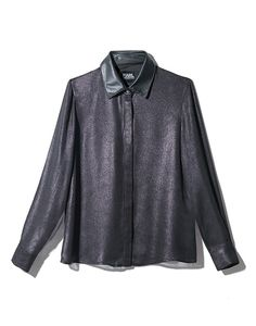 Camisa preta em lamé
