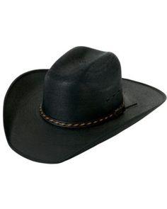 Larry Mahan® 30X Lawton Black Palm Leaf w/ Bound Edge Cowboy Hat