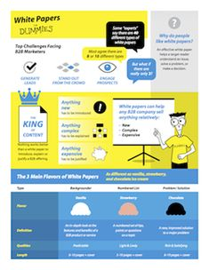 """Learn why white papers are """"king of content with this unique infographic from the book, White Papers for Dummies."""