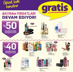 GRATİS'den dev kampanya. Güzellik ürünlerinde büyük indirim. http://bit.ly/2tnzmFa #gratis