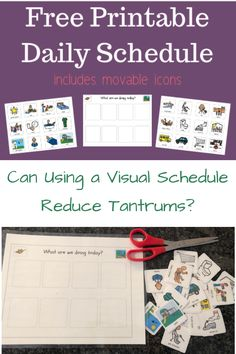 Toddler Visual Schedule with Movable Icons (Free Printable!)