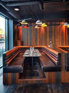 Restaurant Booth - Radisson Blu Riverside by Doos Architects  How the breakfast nook shall look