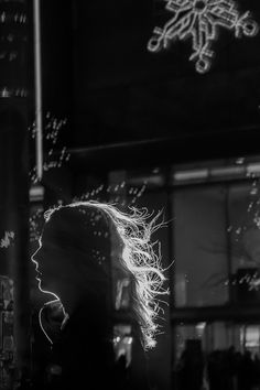 Glowing Silhouettes of Strangers in Chicago