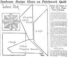 Sunbeam Quilt Pattern
