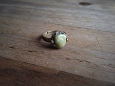 Jade Pyrite Crystal Ring  by SacraLuna on Etsy, $30.00