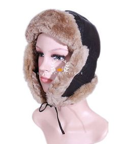 Ladies raf brown / #ginger aviator #shearling sheepskin ww2 flying #winter warm h,  View more on the LINK: http://www.zeppy.io/product/gb/2/182368658738/