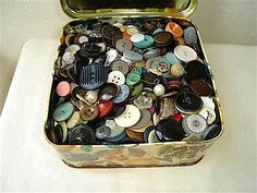 Treasure...mum had a few button tins... loved rooting through them.