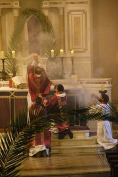 The Mass-Wish we had incense like this!  Wish we celebrated with the priest facing the same way the people do too, that way we would all be participating uniformly.