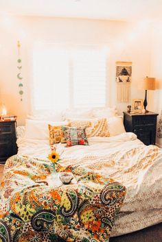 ☾☽ Lady Scorpio ☆ @LadyScorpio101 LadyScorpio101.com ✦ Bohemian Bedroom Decor // Kantha Quilts