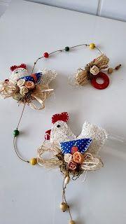 Angela Maria Artesanto: Pingente galinha de bucha vegetal