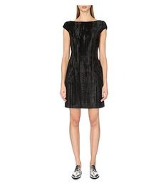 TOPSHOP UNIQUE Mayall Velvet Shift Dress. #topshopunique #cloth #dresses