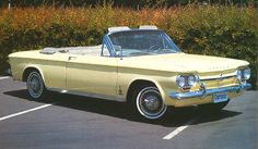 1963 Chevrolet Corvair Monza Convertible - From the website link on the photo you can view classic Chevrolet cars and parts for sale in seven different countries and see basic specifications of all models as seen in the pics. Classic Chevrolet, Classic Chevy Trucks, Classic Cars, General Motors, Muscle Cars, Convertible, 1960s Cars, Retro Cars, Volkswagen