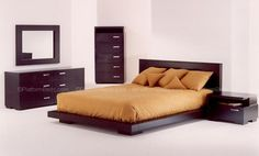 Ultra Modern King Size Bed Set From Wooden Material Feature Modern ...