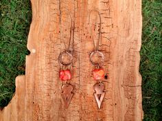 Extra Long Red Jasper and Copper Tanfouk by mirabiliajewelry, $30.00