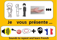 What better way than practicing repetition (when you start in a language) with a theme essential to the first contacts: to introduce yourself / introduce someone. Because you retain better what is really essential. And then you could put into practice what you have learned. Therefore, I created an audio course to help you repeat the essential sentences for this basic situation: AUDIO (se) présenter (quelqu'un). More than 360 basic sentences and an audio file of almost 40 minutes. French Words, France, First Contact, Learn French, How To Introduce Yourself, Sentences, Muscles, Repeat, Brain