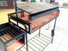 parrilla movil de 1m!!! Outdoor Oven, Outdoor Cooking, Parilla Grill, Smokehouse Grill, Barbecue, Asado Grill, Brick Grill, Argentine Grill, Diy Grill